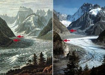Mer de Glace (sotto il Monte Bianco), fonte swisseduc.ch.