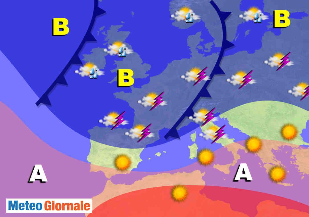 BOMBE d'acqua a Giugno, Italia a marcato rischio meteo