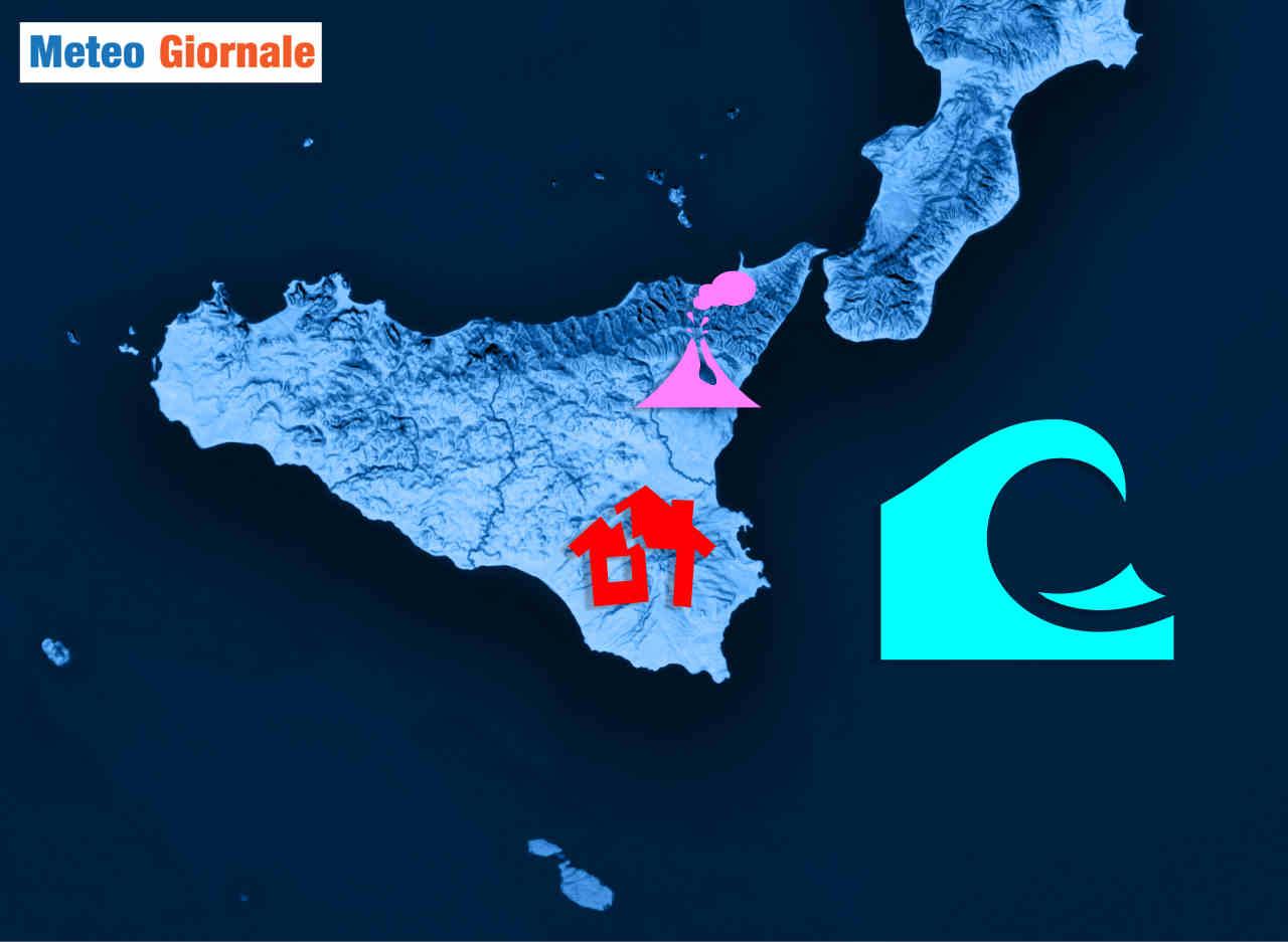 Faglia ibleo maltese denota un'area a rischio sismico elevato.