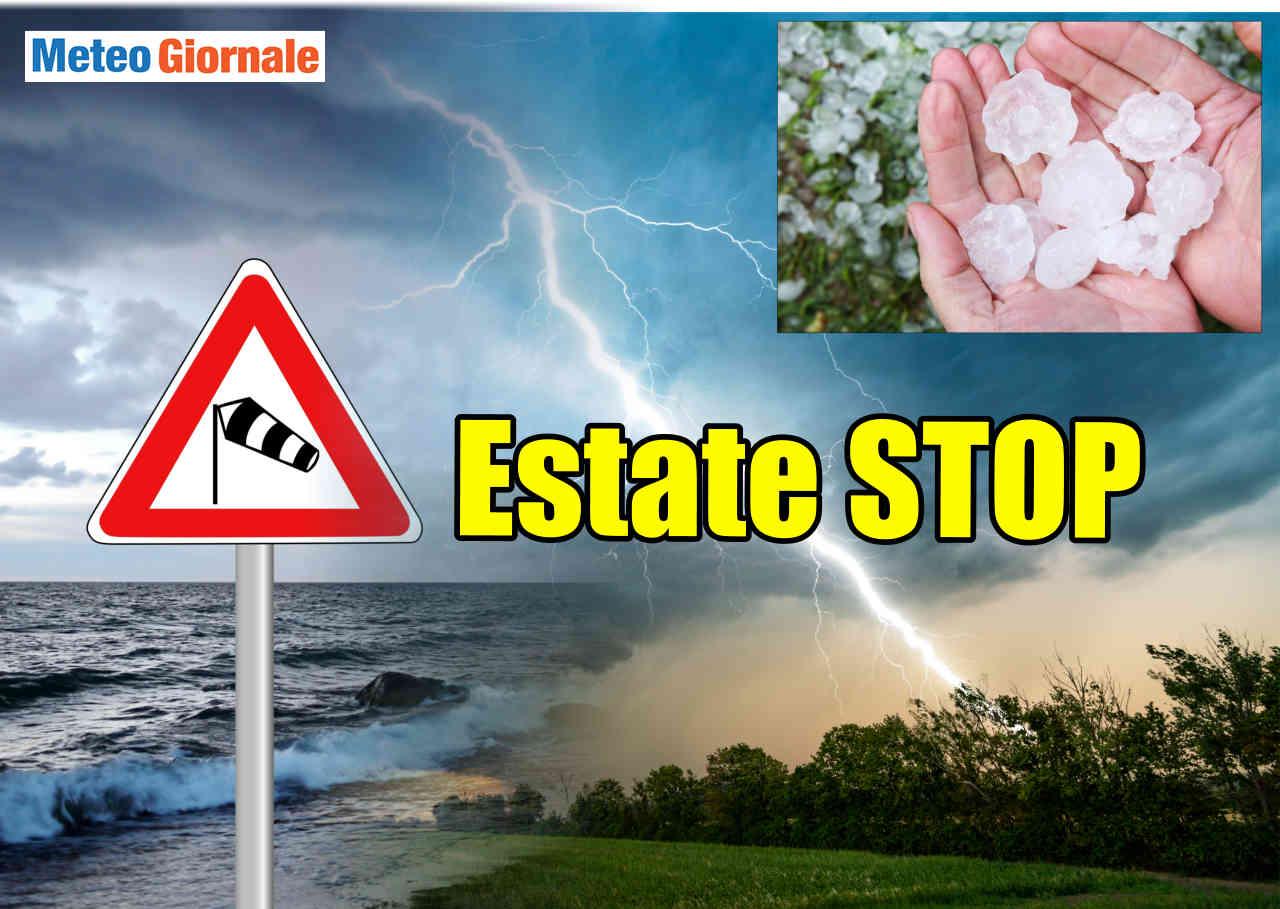 STOP il meteo d'Estate, forte CICLONE da Oceano verso Italia