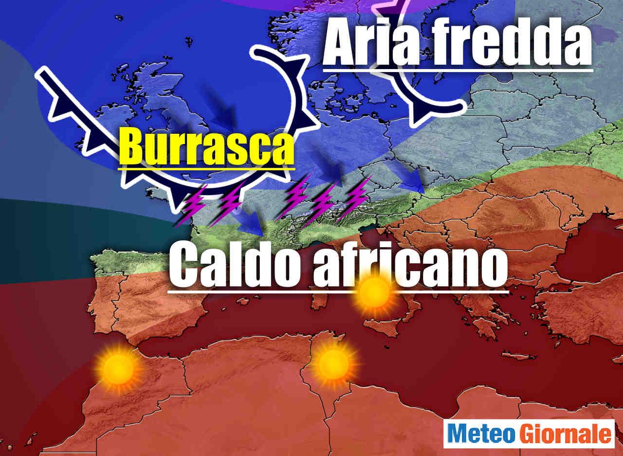 Meteo della settimana con il CALDO d'Africa e l'AFA. I Tempo