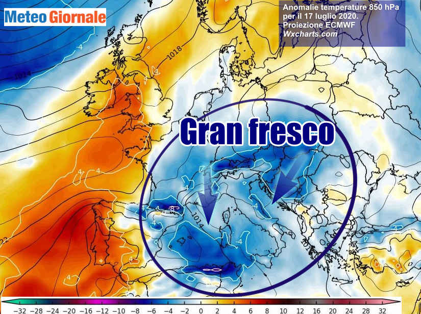 Meteo insolito Estate in crisi tra TEMPORALI e più FRESCO