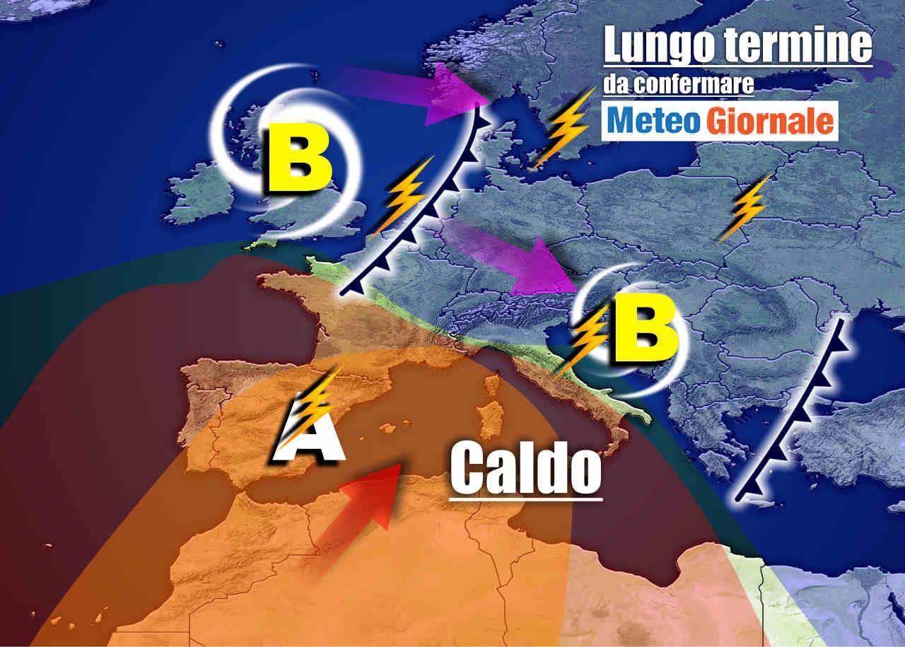 Meteo Italia sino al 14 luglio, attenzione al CALDO poi ai T