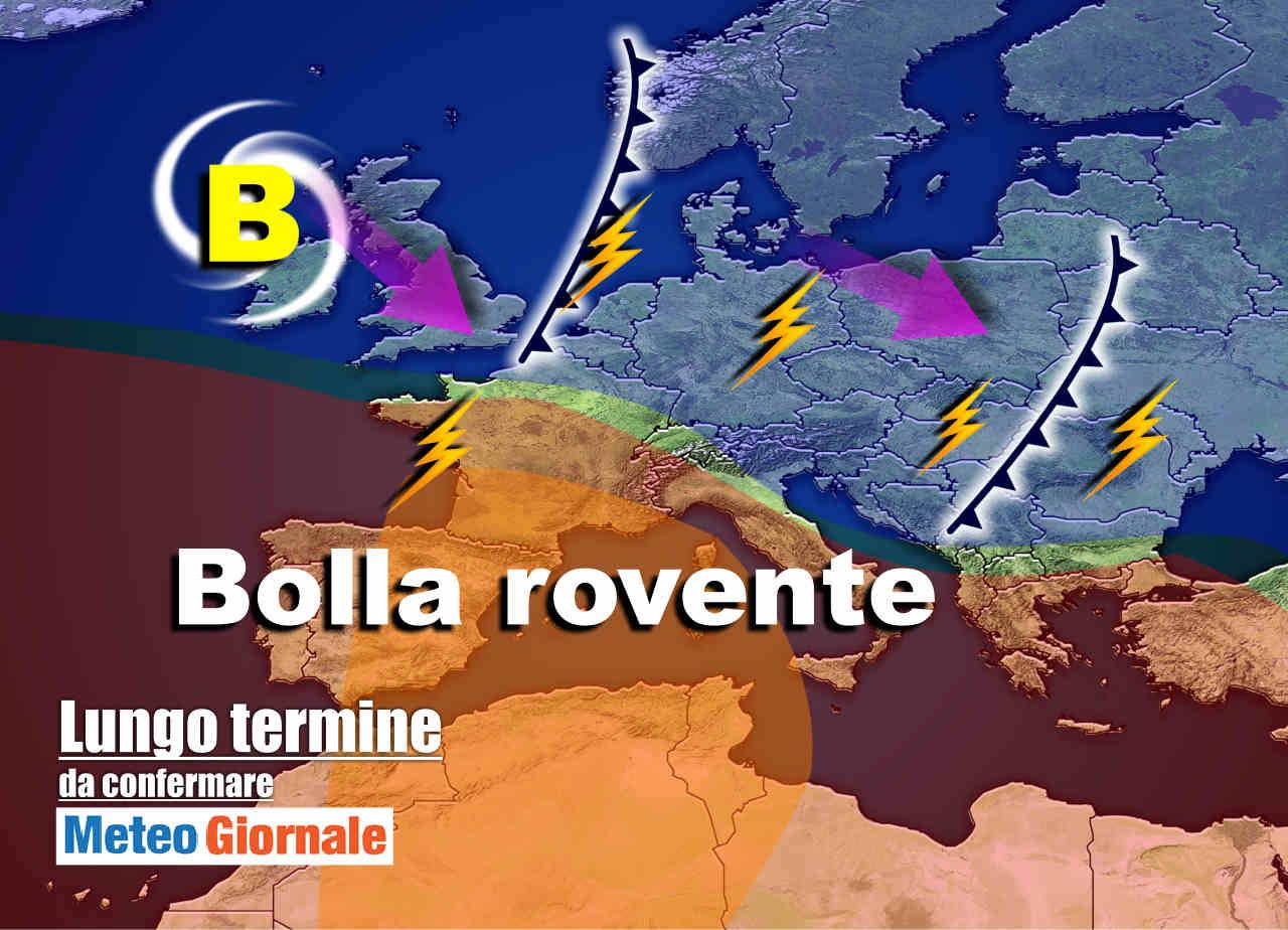 Meteo Italia sino al 27 luglio, Estate di capricci: altri TE