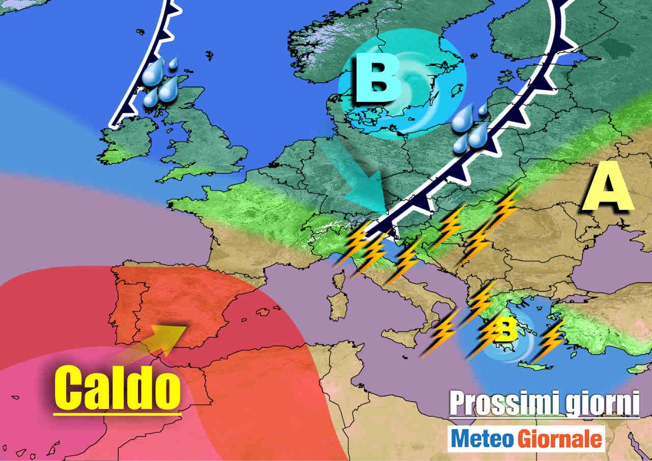 METEO sino 11 Luglio: Italia tra ANTICICLONE d'Africa e nuov