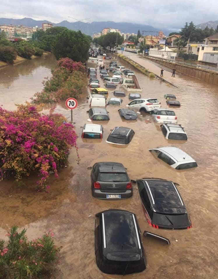ALLUVIONE su Palermo, due morti. Evento meteo eccezionale co