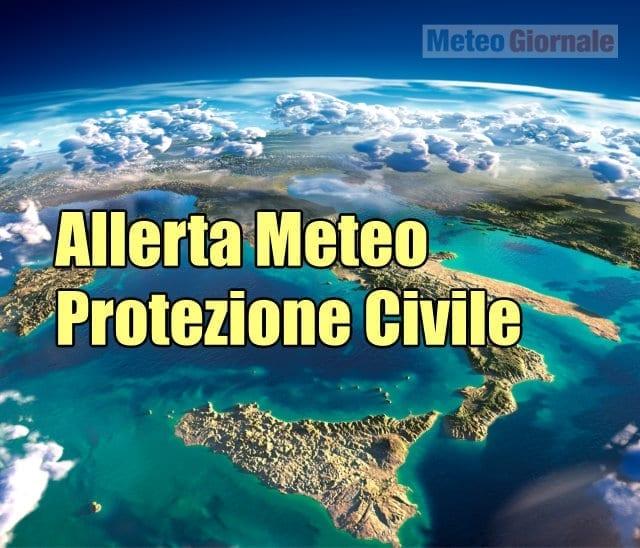 NUOVA Allerta Meteo della Protezione Civile emessa il 2 Agosto 2020