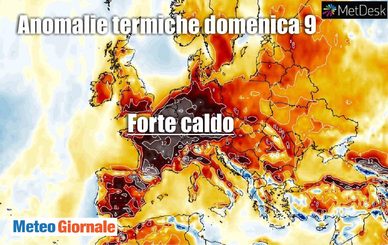 Sta iniziando una forte ONDATA DI CALDO: già 40 gradi in Francia