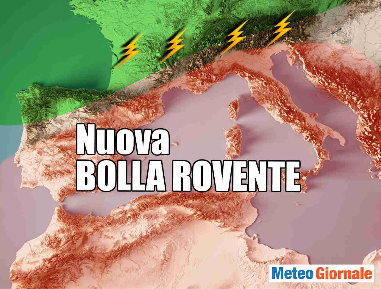 Meteo 15 giorni: 2 BOLLE D'ARIA CALDA, dopo Ferragosto sino 45°C