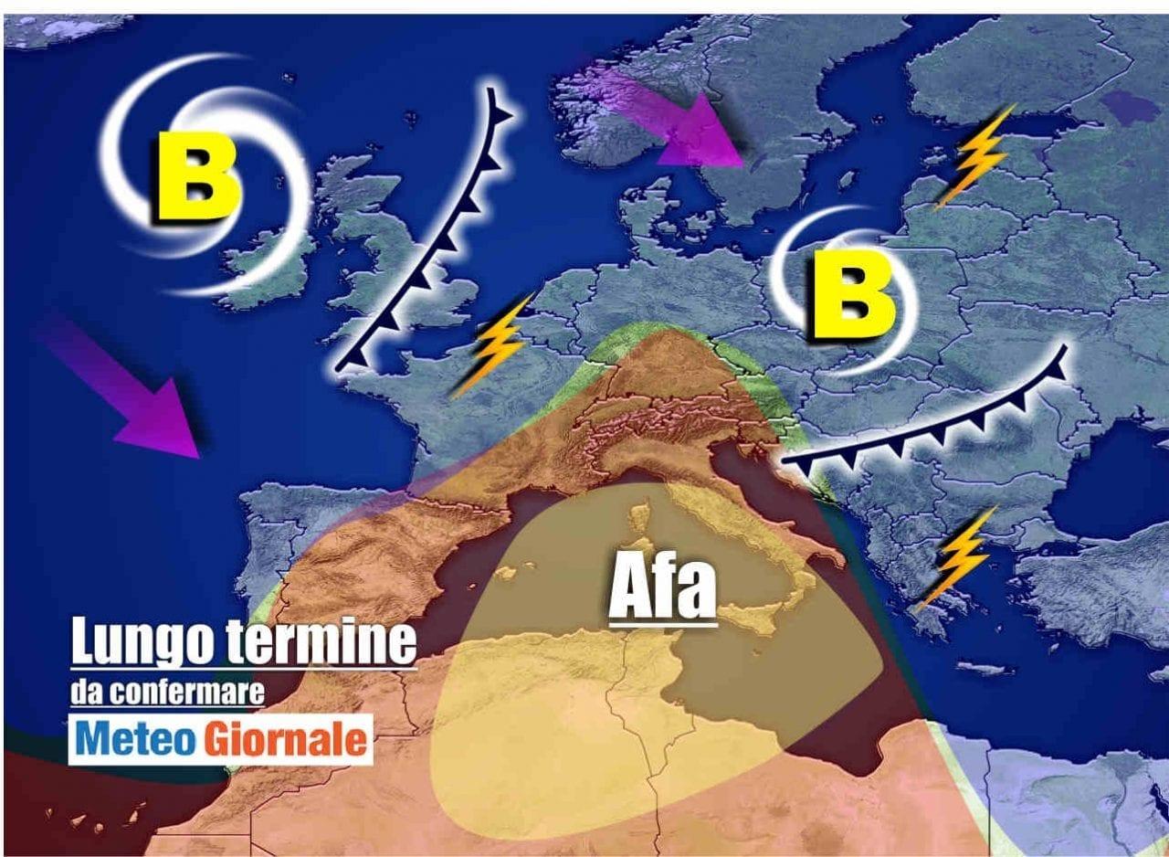 Meteo verso Aria ROVENTE sino Ferragosto, anche oltre 40°C, poi STOP con Temporali