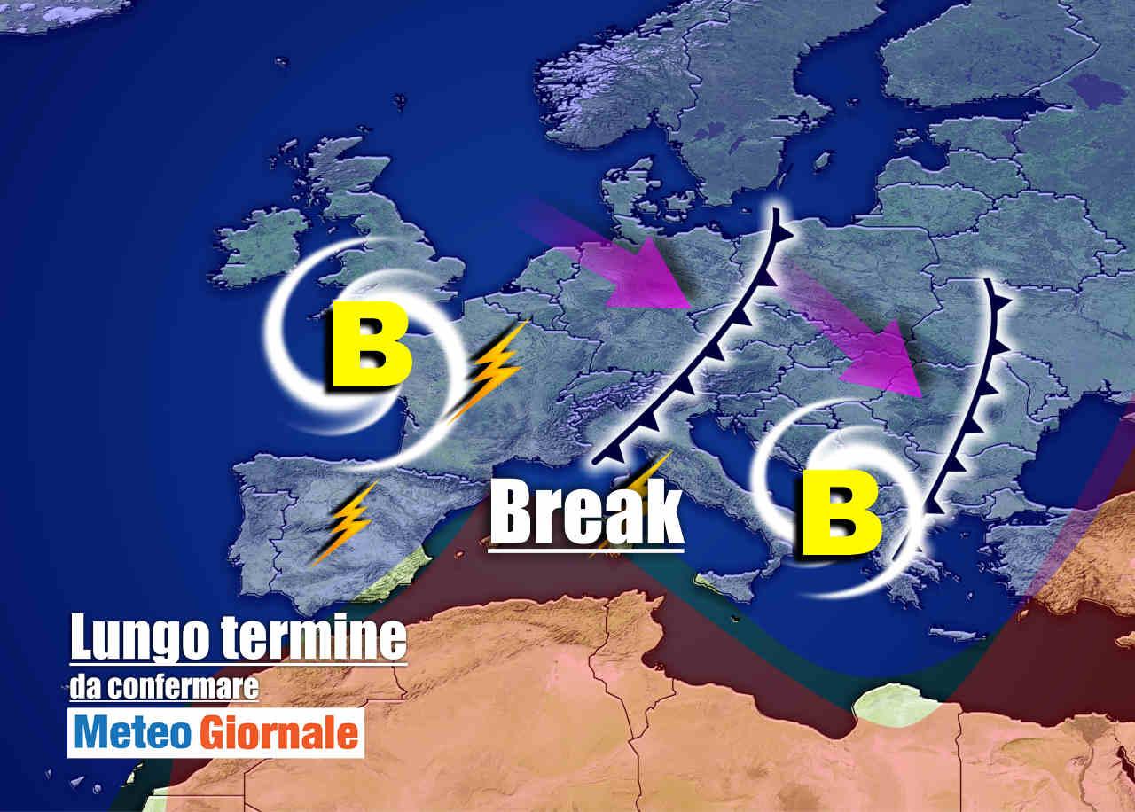 Meteo Italia 15 giorni: brusco STOP d'Estate, rischio BURRASCA