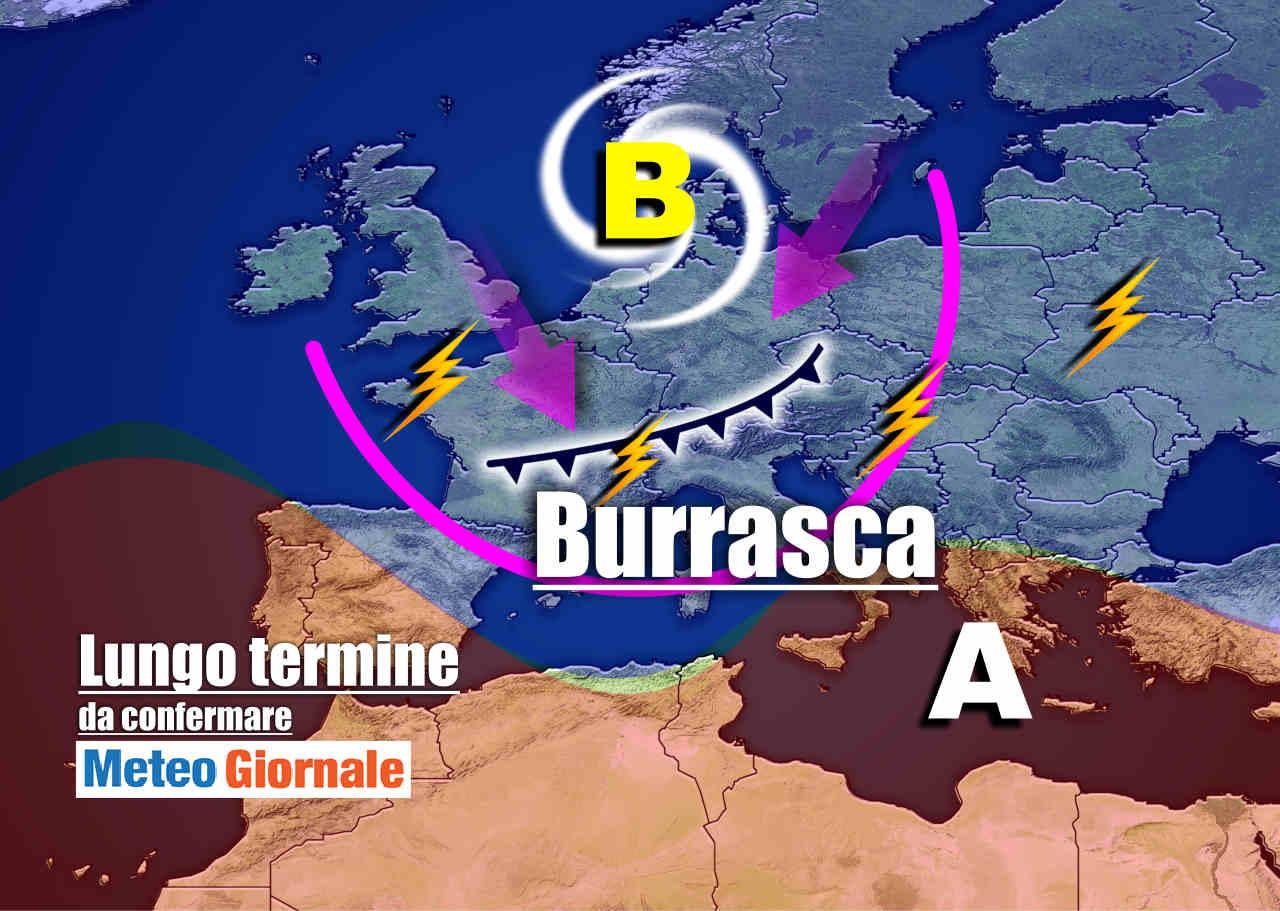 Burrasca autunnale |  l' allarme dei meteorologi |  nel week-end ciclone sull' Italia