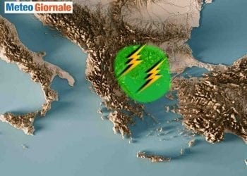 Grecia del nord est sotto il maltempo.