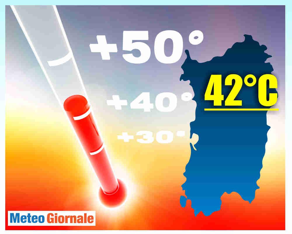 Meteo Sardegna, 42 gradi in varie località. Settimana ulteriore