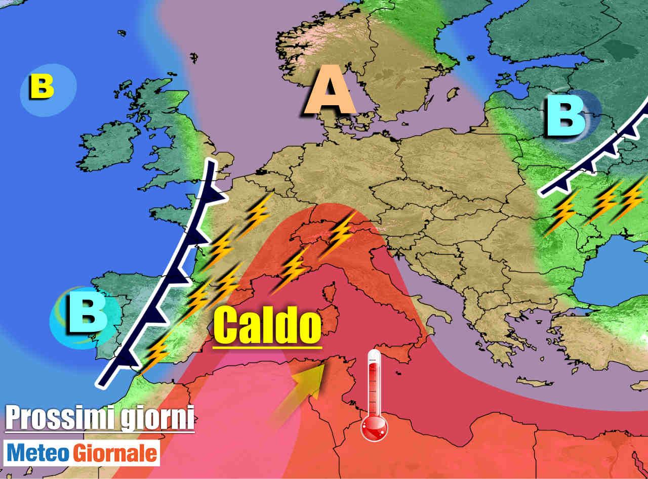 METEO 7 Giorni: CALDO in forte aumento per fiammata africana. Durata