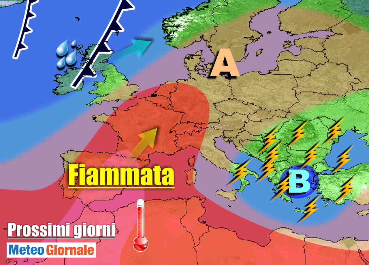 METEO 7 Giorni: ritorna l'anticiclone con SOLE e CALDO, ma ultimi temporali