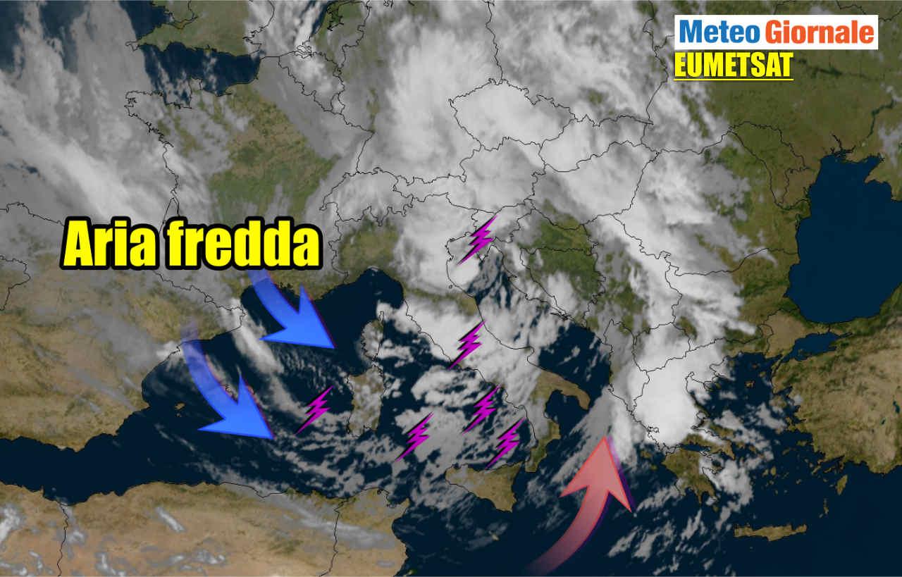 Italia meteo in LIVE: freddo, temporali, grandine, pioggia. BURRASCA di vento