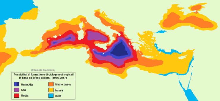 I Medicanes, gli Uragani sul Mediterraneo: dove si formano più spesso?