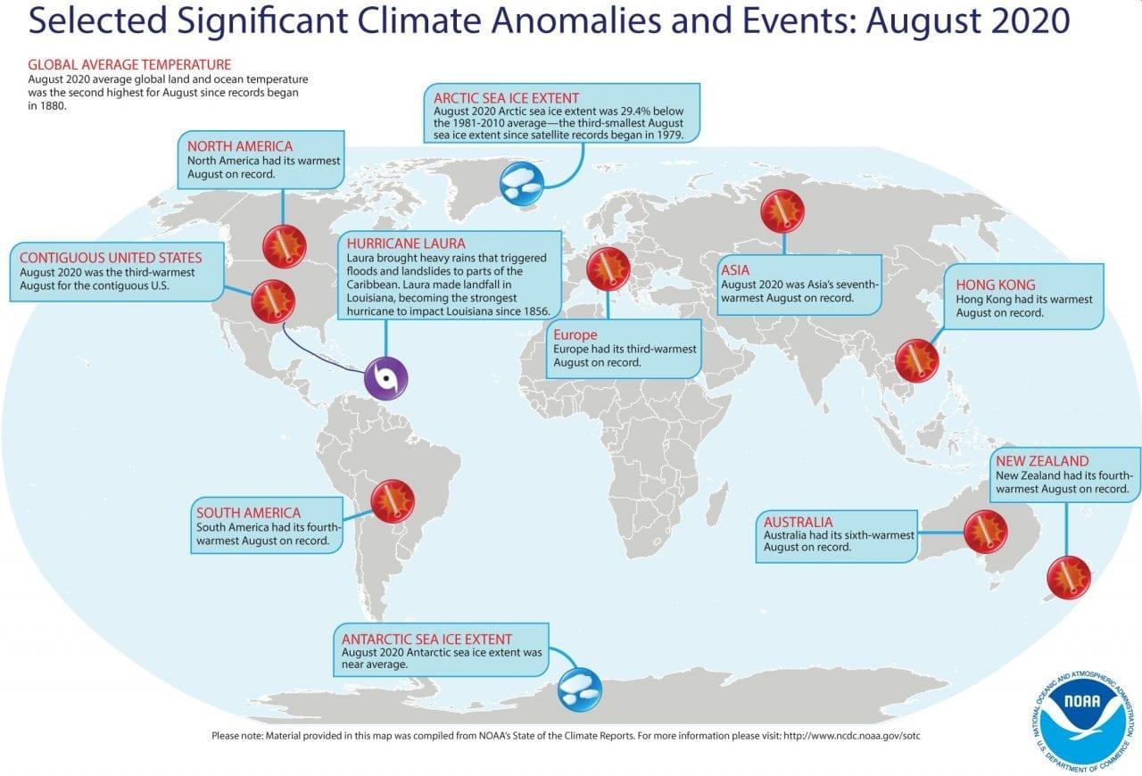 mappa eventi climatici significativi agosto 2020
