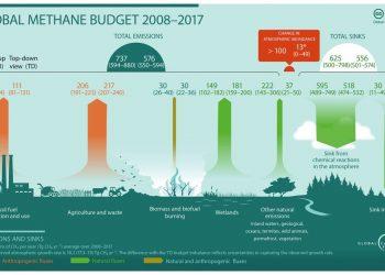 Emissioni di metano, fonte globalcarbonproject