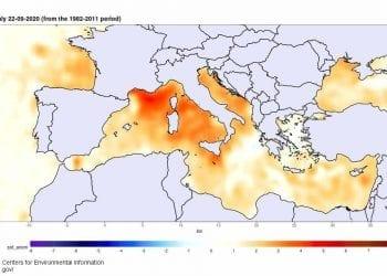 Anomalie termiche riferite al 22 settembre