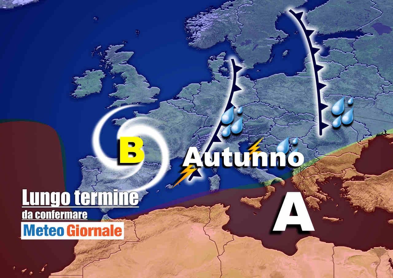 Meteo Italia nel lungo termine: AUTUNNO Atlantico, a tratti PERTURBATO