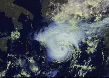 Immagine satellitare del ciclone tropicale Zorbas. Anche quello aveva puntato la Grecia, come quello che stiamo monitorando, denominato Udine o Cassilda.