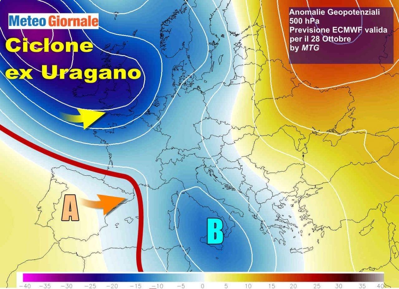 Cartina Italia Nord Sud Est Ovest.Meteo Italia Maltempo Si Porta Al Sud Poi Ennesima Svolta A Sorpresa Meteo Giornale