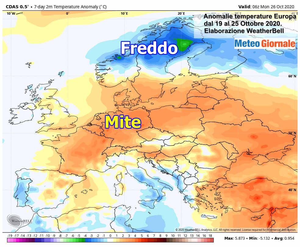 Focus Clima Europa, ottobre con nuovi sbalzi meteo estremi