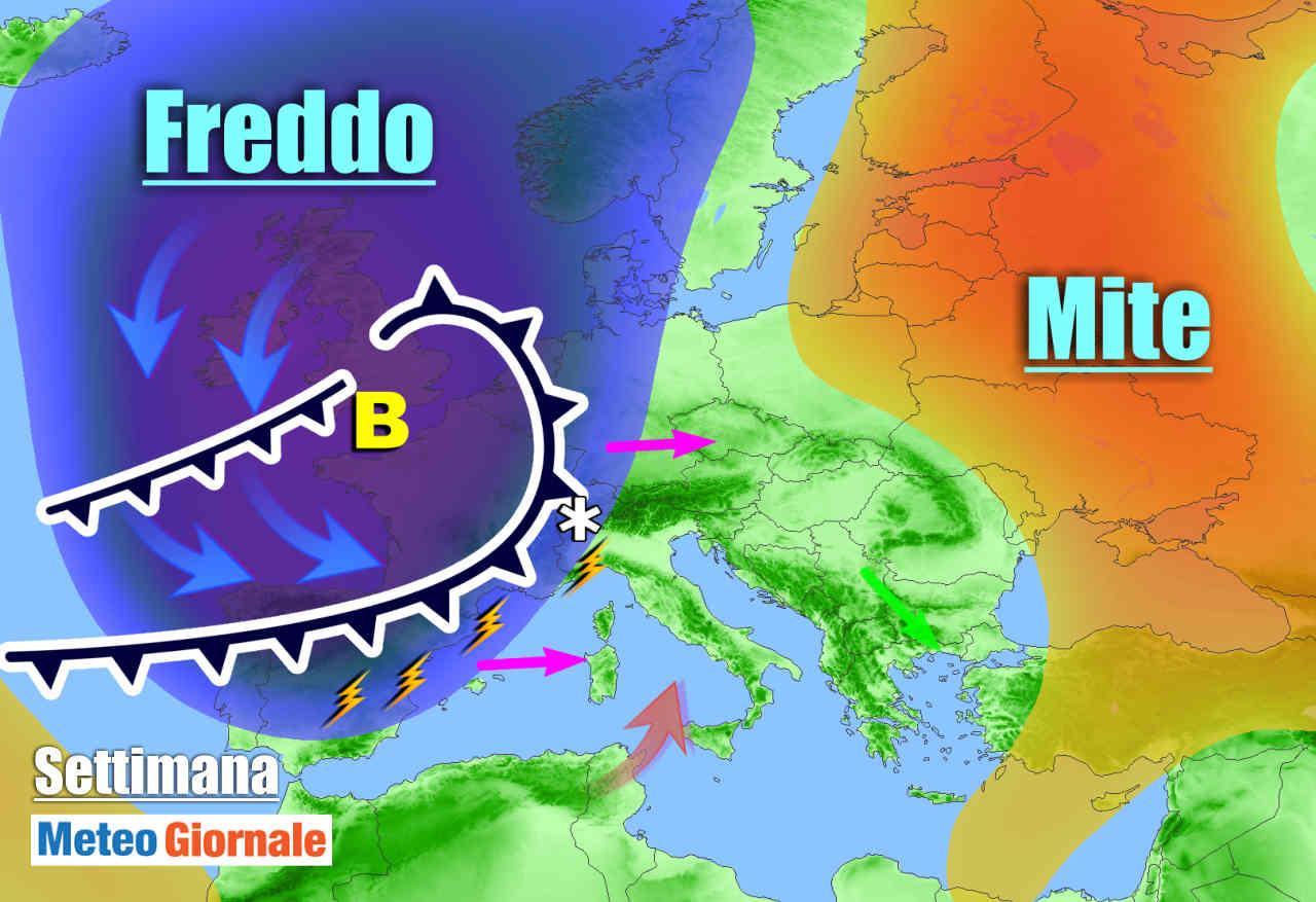 Anomalo ciclone in Oceano abborda le coste d'Europa. Lunedì perturbazione sull'Italia
