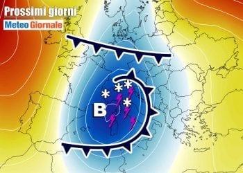 Masse d'aria fredda insisteranno nel Mediterraneo centrale.