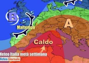 Il forte anticiclone africano proteso sull'Italia