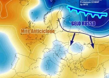 La tendenza meteo probabilistica verso il 10 Novembre