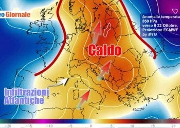 Evoluzione meteo dopo 20 Ottobre