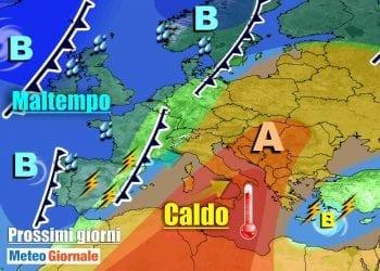 Fronte avanza verso l'Italia, peggiora nel weekend