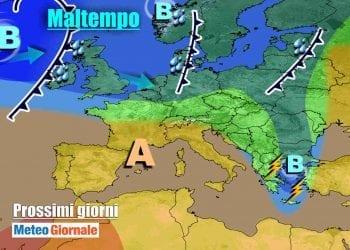 Anticiclone verso l'Italia nei prossimi giorni