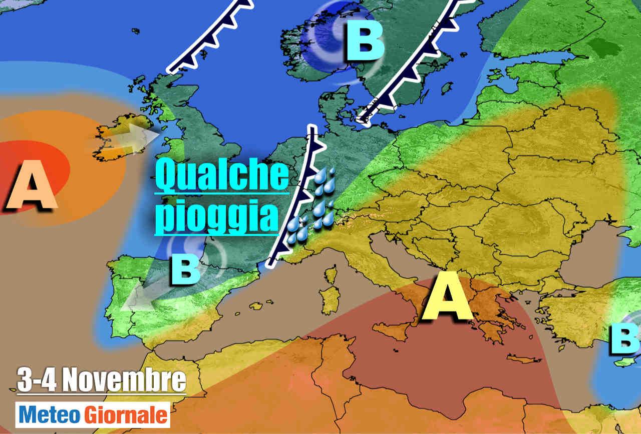 Evoluzione meteo verso il 3-4 novembre