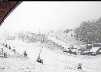 La neve ha ben imbiancato Prato Nevoso, in Piemonte