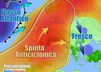 Anticiclone anomalo in rimonta su oltre mezza Europa, non solo in Italia