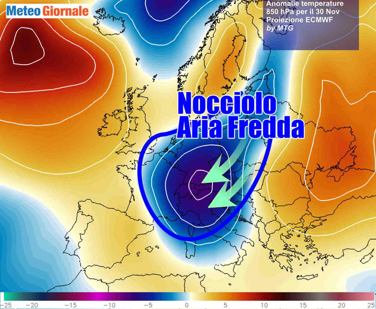Meteo invernale la prossima settimana