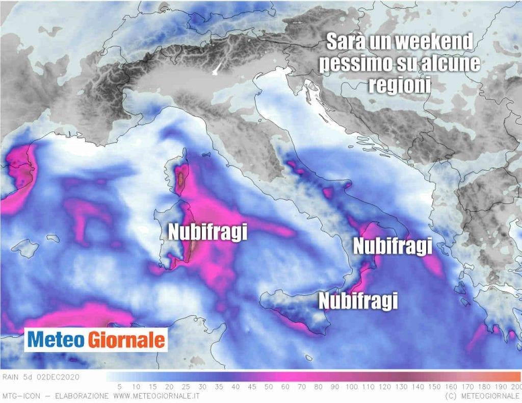 Ultimissime meteo sui preoccupanti NUBIFRAGI in arrivo
