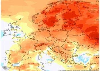 Le anomalie termiche al suolo registrate tra il 2 e l'8 novembre