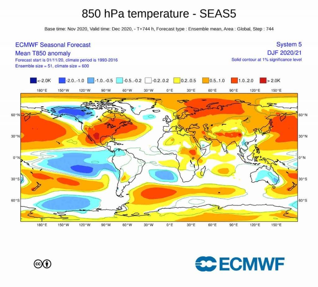 Secondo il centro di calcolo europeo l'Inverno porterà delle sorpresone