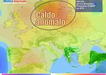Le anomalie termiche attese verso il weekend in Europa