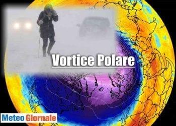 L'esplosione del Vortice Polare record , sarà responsabile di ondate di gelo e tempeste di neve.