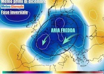 Le anomalie termiche attorno al 2 dicembre