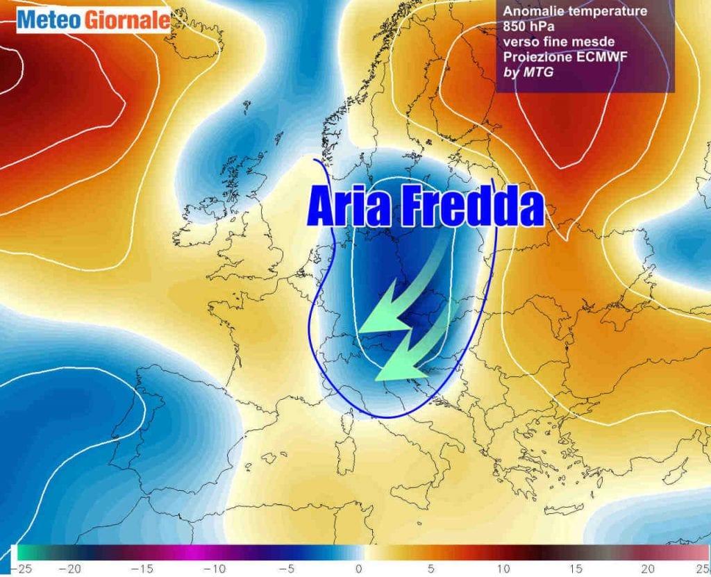 NOVITA' meteo, ancora FREDDO in rotta sull'Italia già a fine Novembre