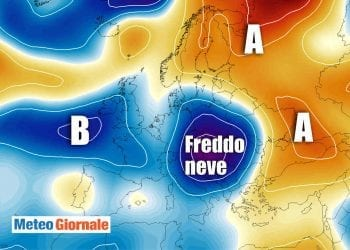 Gelo invernale in Europa.