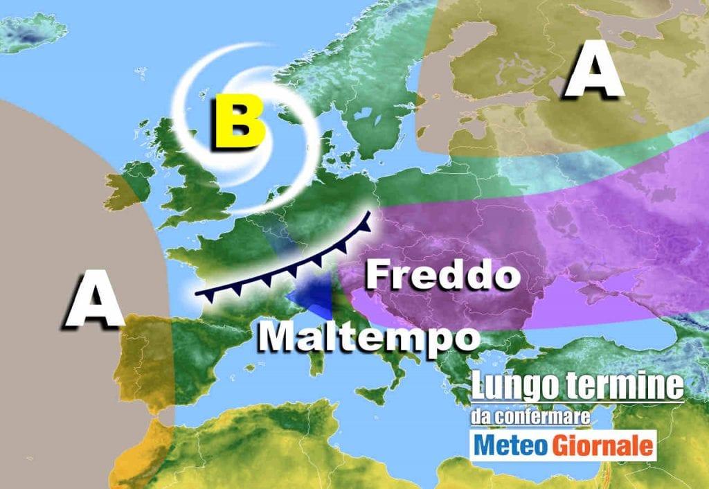 Meteo Italia nel lungo termine |  dicembre perturbato |  con FREDDO e NEVE