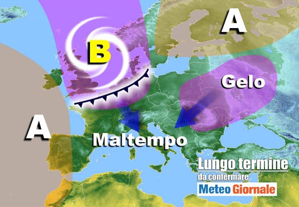 Meteo Italia lungo termine: FREDDO, NEVE, maltempo, invernali